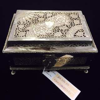 Vintage - Silver-plated Ornate Tepak Sireh (KS006)