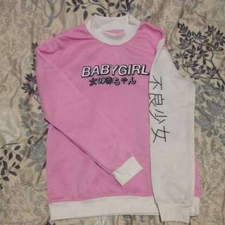 HIGH/MOCK NECK BABYGIRL SWEATER
