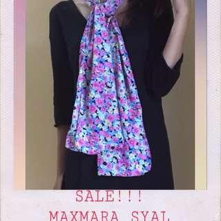 pink flower syal