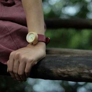 Designer Maple Wood Women Watch