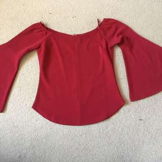 Barely Worn Red/Maroon Off-Shoulder Top