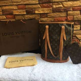 Louis Vuitton Monogram Large Bucket Bag Authentic