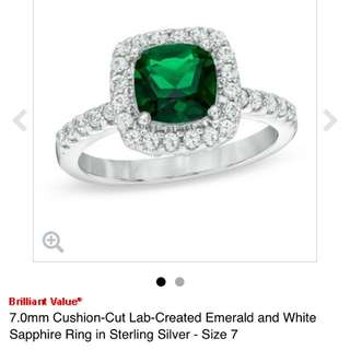Emerald Earrings And Ring