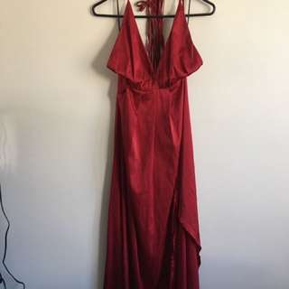 Gently Worn Red/Maroon Formal Maxi Dress