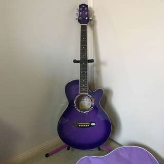 Gypsy Rose Brand Purple Guitar Set