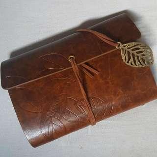 Leaf Travel Notebook (Brown)