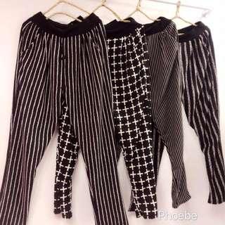 條紋造型休閒褲