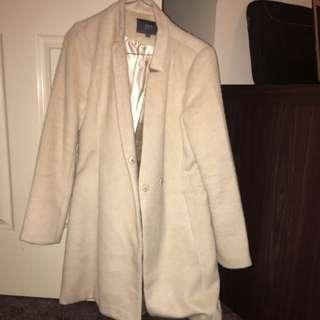 Cream Dress Coat