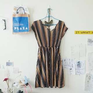 露背條紋連身裙🍦