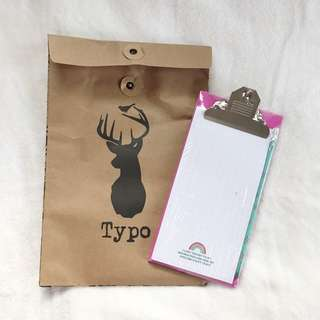 Clipboard with Notepad from Typo