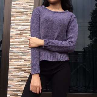 SWEATER KNIT mixed purple