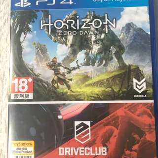 Horizon Zero Dawn With Driveclub Ps4 Game Disc