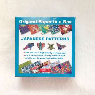 Origami Paper In A Box (Japanese Patterns)