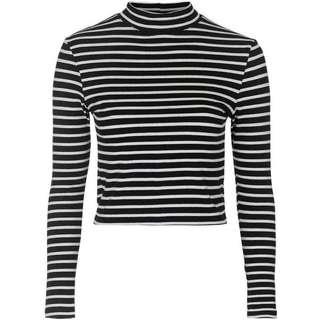 B&W Cropped Stripped Shirt (H&M)
