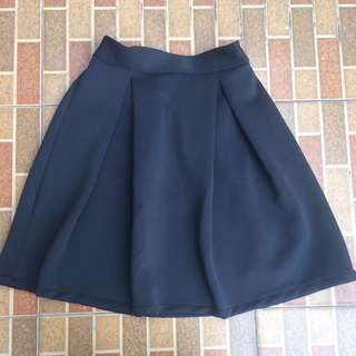 FLARED SKIRT BLACK