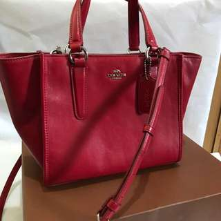 NWT Coach Crosby Mini Carryall in Smooth Leather