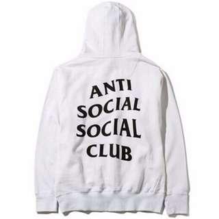 Anti Social Social Club Paranoid Hoodie Kanye Sweatshirts Mens Womens Top Jumper White