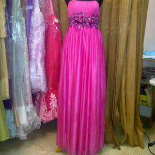 Party Gown Pink Fuchia