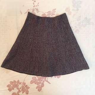 🚚 全新/酒紅色針織短裙