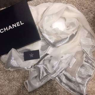CHANEL SILK CC SCARF