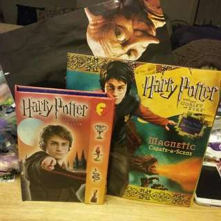Various Harry Potter Items, Secrets Book, Poster, Magnectic Board Book
