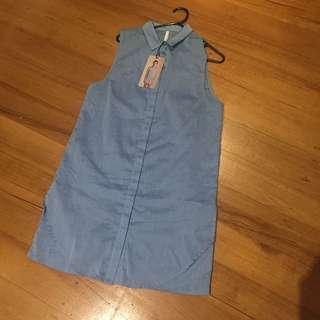 STAPLE THE LABEL Sleeveless shirt dress