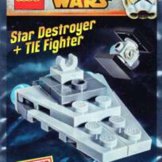 Lego Star Wars Star Destroyer And TIE Fighter Foil Pack