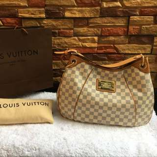 Louis Vuitton Damier Azur Galliera GM Bag Authentic