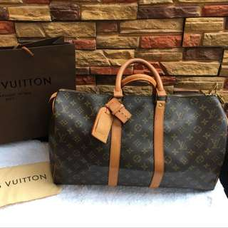 Louis Vuitton Keepall 50 Monogram Bag Authentic