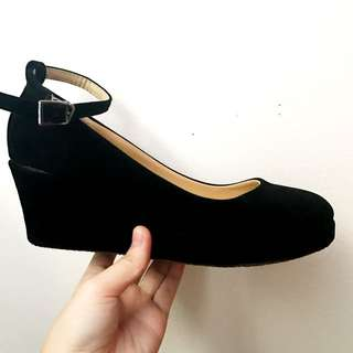 Black Wedge Heel