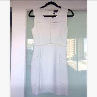 Zalora White Mesh Dress