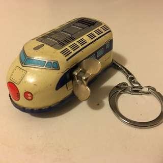 (懷舊)鐵皮上鍊火車匙扣