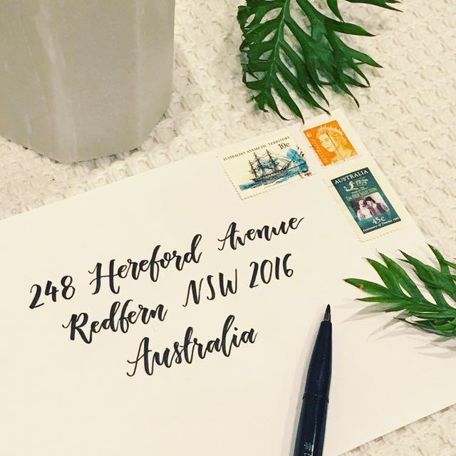 #1 Modern Calligraphy Style Envelopes