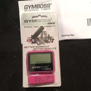 Gym Boss Interval Timer And Stopwatch