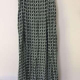White And Black Maxi Skirt