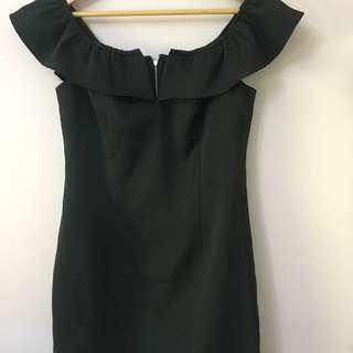 Off The Shoulder Black Dotti Dress