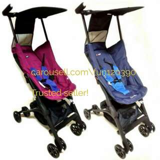 LOW PRICE & TRUSTED! POCKIT Stroller in Navy Blue and Violet! Limited ready stock in special price!