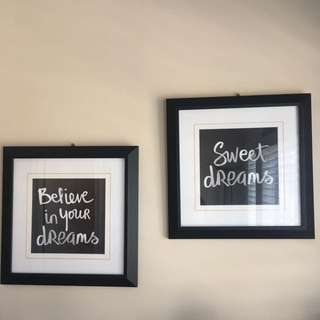 Two Wall Pictures With Frames
