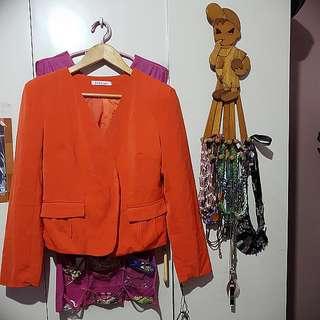 🎀Zara Orange Blazer
