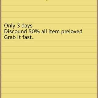 All Item Disc 50%
