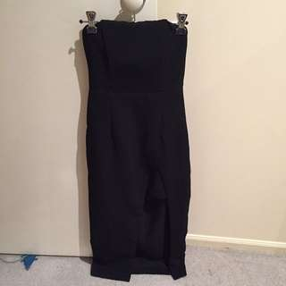 Strapless Maxi With Front Split