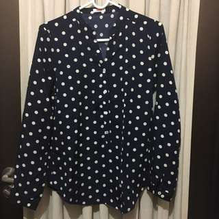 Bench Dark blue Polka Dotted Long Sleeves