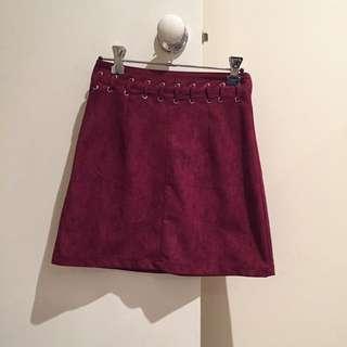 Suede Look Skirt