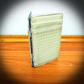 J Fold Originial Flip Mens Sports Wallet In White And Blue