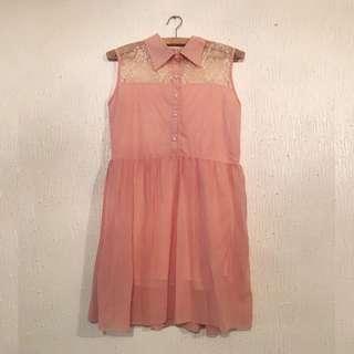 UNBRANDED Coral Korean Dress