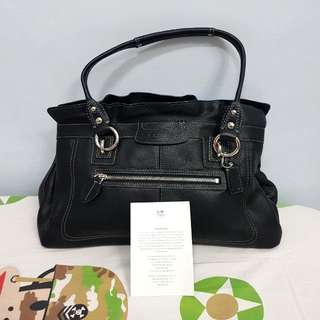 Original Authentic Brand New Coach Black Leather Bag Tote