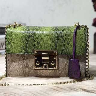 SOFIA (Snake Pattern Cross Body Bag)