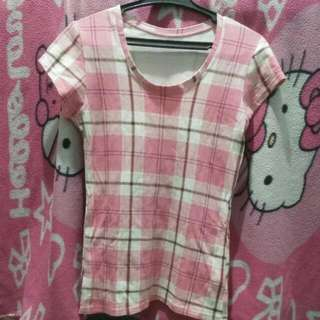 Pink Checkered Blouse