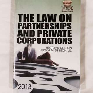 Law On Partnerships & Private Corporations