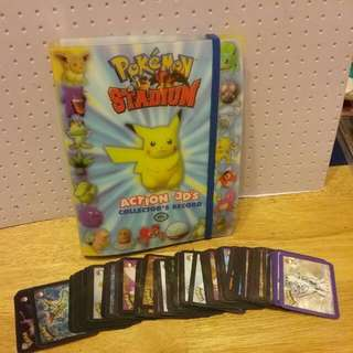 Pokemon Stadium Action 3d's Collectors Record With Full Set Of Cards Plus Over 50 Spare Various Cards
